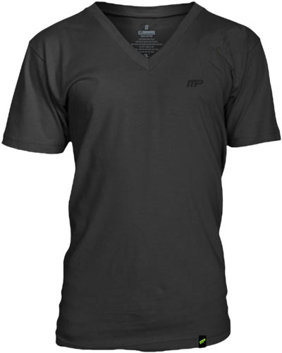 MUSCLE-PHARM-Sportswear-Embroidered-V-Neck-Tee